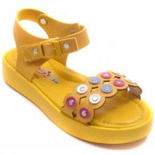 Wendy 612 Filet Yazlık Çocuk Sandalet - Sarı - Filet