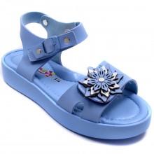 Wendy 614 Filet Yazlık Çocuk Sandalet - Mavi - Filet