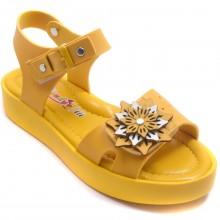 Wendy 614 Filet Yazlık Çocuk Sandalet - Sarı - Filet