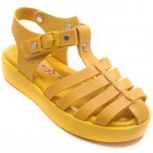 Wendy 618 Filet Yazlık Çocuk Sandalet - Sarı - Filet