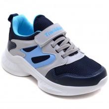 Twitto-458 Filet Spor Ayakkabı - Lacivert/Gri