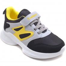Twitto-458 Filet Spor Ayakkabı - Siyah/Sarı