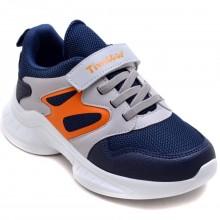 Twitto-458 Filet Spor Ayakkabı - Lacivert/Turuncu