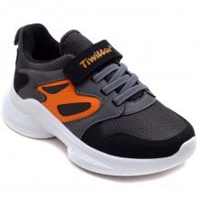Twitto-458 Filet Spor Ayakkabı - Siyah/Turuncu