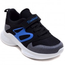 Twitto-458 Filet Spor Ayakkabı - Siyah/Mavi