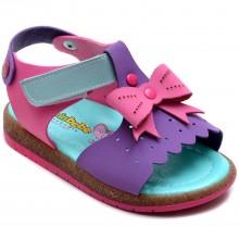 Şirin Bebe 222 Kız Çocuk Bebe Sandalet - Mor - Bebe