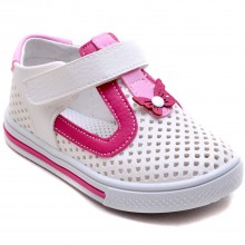 Şirin Bebe 324 Kız Çocuk Bebe Sandalet - Beyaz/P - Bebe