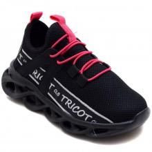 Calibron~50 Tricot Filet Spor Ayakkabı - Siyah/P