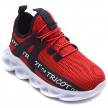 Calibron~50 Tricot Filet Spor Ayakkabı - Kırmızı