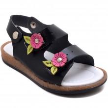 Şirin Genç 523 Kız Çocuk Patik Sandalet - Siyah - Patik