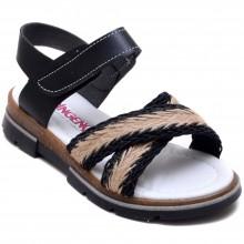 Şirin Genç 873 Kız Çocuk Filet Sandalet - Siyah - Filet