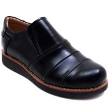 Y&Y 320 Düz Filet Ayakkabı - Siyah (Deri) - Filet