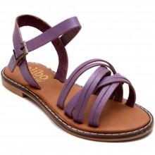 Alibo 11 Çapraz Kız Filet Sandalet - Lila (Deri) - Filet