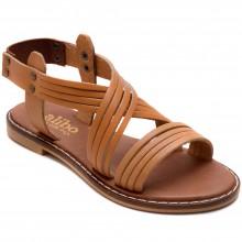Alibo 9 Düz Kız Filet Sandalet - Taba (Deri) - Filet