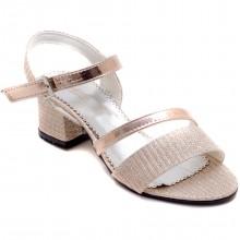 Alibo 56 Abiye Kız Filet Sandalet - Krem - Filet