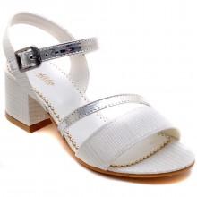 Alibo 56 Abiye Kız Filet Sandalet - Beyaz - Filet