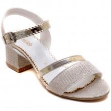 Alibo 56 Abiye Kız Filet Sandalet - Sarı - Filet
