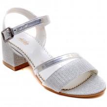 Alibo 56 Abiye Kız Filet Sandalet - Gri - Filet
