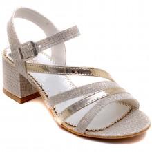 Alibo 58 Abiye Kız Filet Sandalet - Sarı - Filet