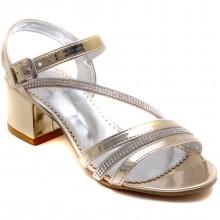 Alibo 58 Abiye Kız Filet Sandalet - Sarı/S - Filet