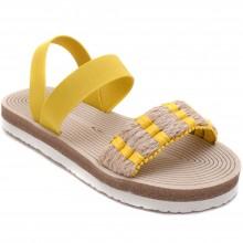 Alibo 28 Rahat Filet Hasır Sandalet - Sarı - Filet