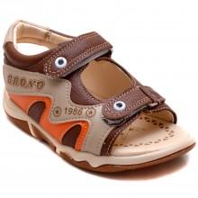 Brono 23 Cırtlı Bebe Sandalet - Kahverengi (Deri) - Bebe